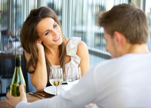 Dating Couple At A Restaurant